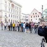 Přivítání český cestovatelů v rámci cesty republikou na počest Miloslava Stingla, Schwarzenberská granátnická garda, Foto/zdroj: Lubor Mrázek
