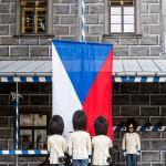 Vztyčování praporu republiky, Schwarzenberská granátnická garda