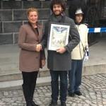 Předání pamětního diplomu paní Blance Křížové za její finanční podporu obnově Schwarzenberské granátnické gardy, 2017, Schwarzenberská granátnická garda