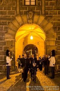 Příchod horníků na krumlovský zámek (foto/zdroj: Lubor Mrázek)