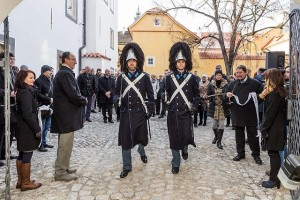 Slavnostní otevření Klášterů Český Krumlov (foto: Lubor Mrázek), Schwarzenberská granátnická garda