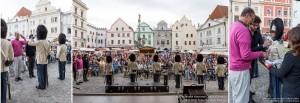 Slavnostní ceremoniál na krumlovském náměstí, Schwarzenberská granátnická garda, Foto/zdroj: Lubor Mrázek