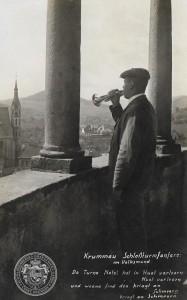 Slavný krumlovský zámecký trubač, Franz Bürger, alias Turnanácl, Archiv Schwarzenberské granátnické gardy