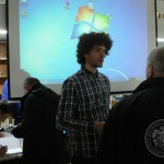 Historicky první přednáška o gardě v Českém Krumlově, Martin Neudörfl po přednášce