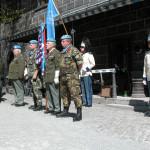 Během ceremonie Modrých baretů 2016, Schwarzenberská granátnická garda