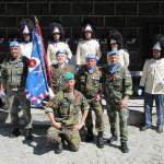 Společné foto vojáků a granátníků, Schwarzenberská granátnická garda