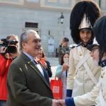 Slavnostní vyvěšení knížecího praporu, Schwarzenberská granátnická garda, (foto/zdroj: TOP 09)