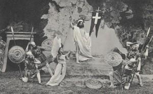 Výjev z Hořických pašijových her, Zmrtvýchvstání, Josef Seidel, soukromý archiv Martina Neudörfla