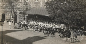 Baterie Schwarzenberské granátnické gardy na svém původním místě před strážnicí, Archiv Schwarzenberské granátnické gardy