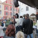 Slavnostní předání portepee starostou města, Schwarzenberská granátnická garda