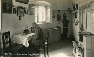 Věžný Bürger ve svém bytě na vrcholu zámecké věže, Soukromý archiv J. Palkoviče a I. Janouška