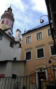 Rodný dům Franze Bürgera pod zámeckou věží