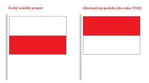Dvě varianty českého zemského praporu do roku 1918