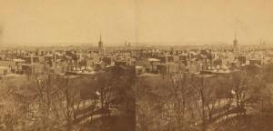 Panorama města Filadelfie z roku 1897, kde se konala ve stejném roce premiéra Hořického pašijového filmu, Foto/zdroj: Wikimedia