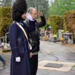 Odhalení pamětní desky nad hrobem hejtmana Bartoloměje Reindla, Schwarzenberská granátnická garda