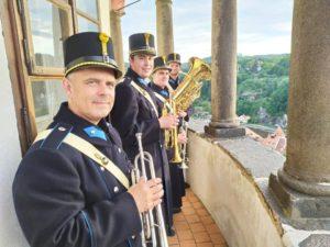 Krumlovský věžný Turnanácl, Gr. Ladislav Kočár, se svými kolegy granátníky, Schwarzenberská granátnická garda